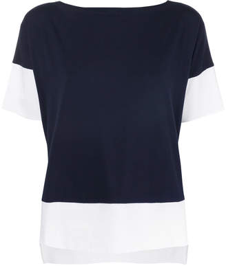 Le Tricot Perugia boxy colour block T-shirt