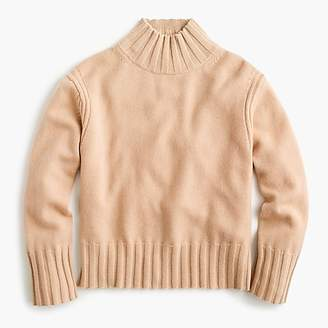 J.Crew Relaxed mockneck sweater in cashmere