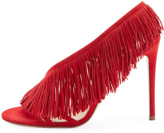 Aquazzura Wild Fringe Asymmetric Sandals