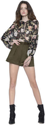 Alice + Olivia Julius Blouson Sleeve Tunic Top