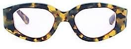 Karen Walker Women's Castaway 48MM Oval Pink Lenses Sunglasses