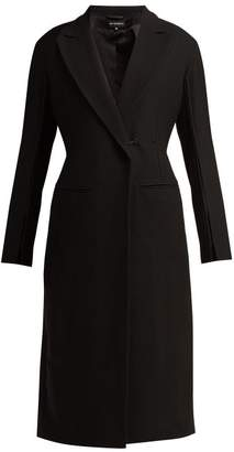 Ann Demeulemeester Satin Trim Wool Blend Coat - Womens - Black