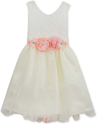 Rare Editions Pintuck-Bodice Ballerina Dress, Big Girls