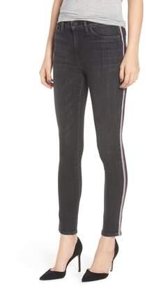 Hudson Barbara Track Stripe Ankle Skinny Jeans