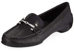 Donald J Pliner Filo Burnished Leather Moc Loafers