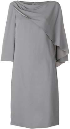 Alberta Ferretti round neck shift dress