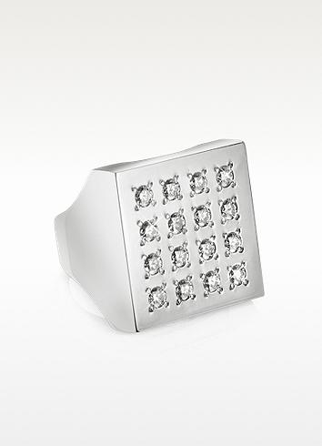 Marina Mita Milano Geo - 18K White Gold and Diamond Ring