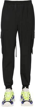 Juun.J Wool Blend Gabardine Cargo Pants