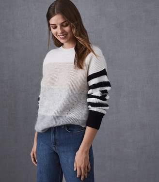 Reiss HAIDEE STRIPED CHUNKY KNITTED JUMPER Multi