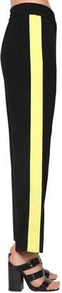 Kenzo Contrasting Color Crepe Track Pants