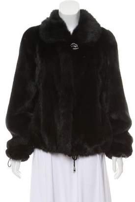 Mink Fur Pointed Collar Jacket