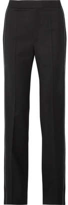 Helmut Lang Zip-embellished Wool-blend Twill Straight-leg Pants - Black