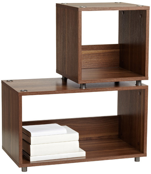 Container Store Walnut Vario Stacking Shelves