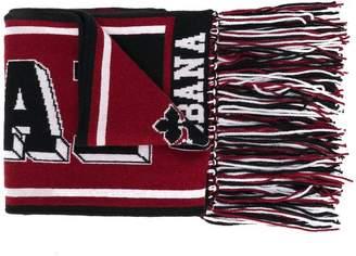 Dolce & Gabbana printed knit scarf
