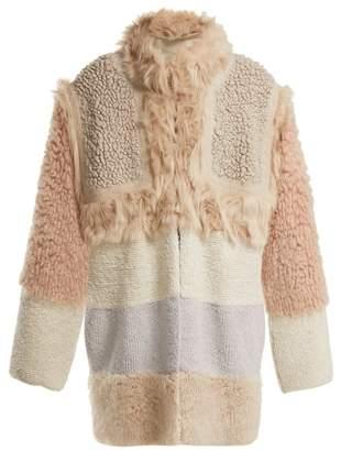 Stella McCartney Patchwork Faux Fur Coat - Womens - Multi