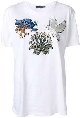 Alexander McQueen bird patch T-shirt