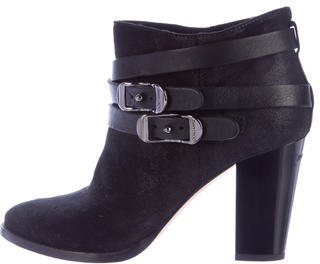 Jimmy Choo Jimmy Choo Suede Round-Toe Ankle Boots