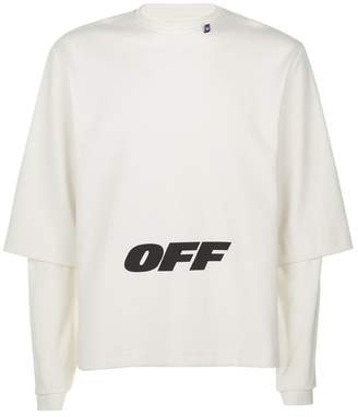 Off-White Double Sleeve Wing Off Sweatshirt