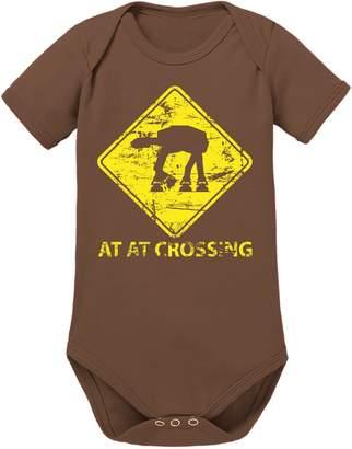 Touchlines Unisex Baby Short Sleeved Bodysuit - Brown - 0-3 Months