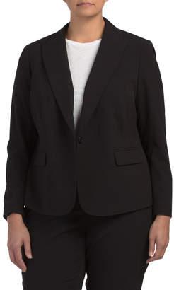 Plus Sabre Stretch One Button Jacket