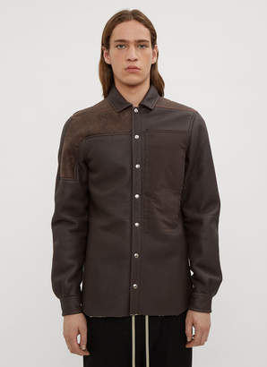 Rick Owens Combo Leather Shirt Jacket