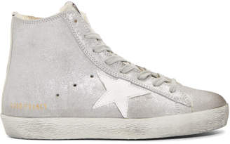 Golden Goose Silver Suede Francy Sneakers