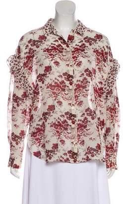 Robert Rodriguez Silk Floral Print Blouse