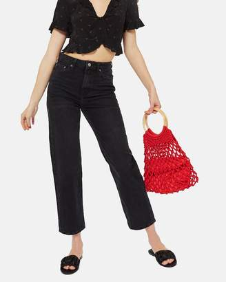 Topshop MOTO Straight Cropped Jeans