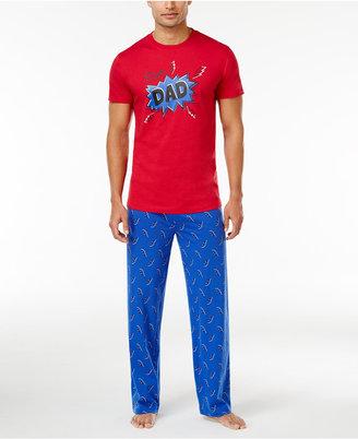 Family Pajamas Men's Super Dad Pajama Set, Created for Macy's $70 thestylecure.com