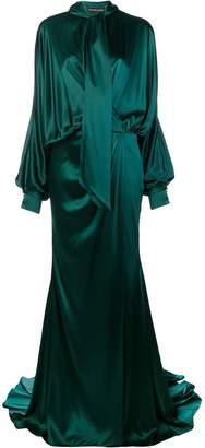 Alexandre Vauthier long draped gown