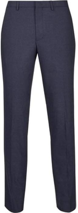 Womens **Burton Navy Marl Skinny Fit Suit Trousers