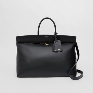 Burberry Extra Large Leather Society Top Handle Bag