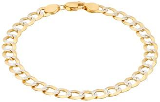 14K Gold Comfort Pave Curb Bracelet