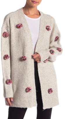 Romeo & Juliet Couture Pompom Detailed Cardigan