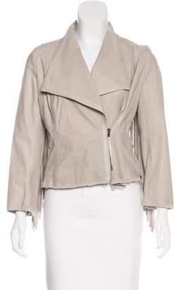 Illia Leather Fringe Jacket