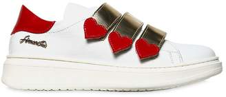 Simonetta Hearts Nappa Leather Low Sneakers