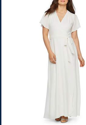 PREMIER AMOUR Premier Amour Short Sleeve Maxi Dress