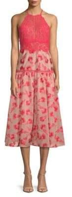 Rebecca Taylor Floral Midi Dress