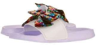 Jo-Jo Jojo Siwa Girl's Slide with Glitter Footbed & Bow