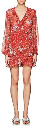 IRO Women's Vilia Floral Mini Wrap Dress
