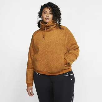 Nike Womens Fleece Long-Sleeve Training Top (Plus Size Therma