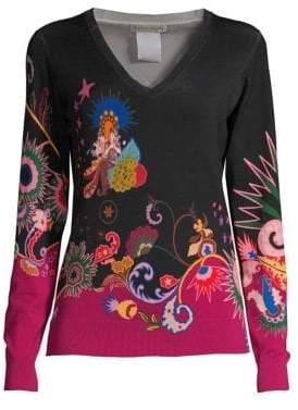 Etro Star Paisley Silk-Blend Sweater