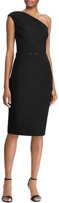 Ralph Lauren One-Shoulder Bead Accent Jersey Dress - 100% Exclusive
