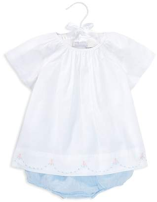 Ralph Lauren Girls' Embroidered Cotton Tunic & Linen Bloomers Set - Baby