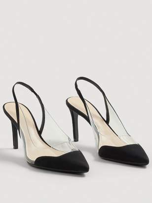 MANGO Gardenia Clear Detail Court Shoe - Black