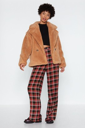 Nasty Gal Cover Your Back Faux Fur Coat