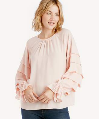Sole Society L/S Tiered Sleeve Blouse w/ Ties