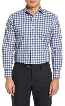 Lorenzo Uomo Trim Fit Check Dress Shirt
