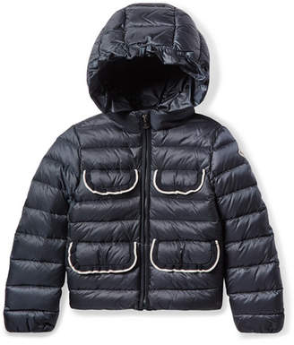 Moncler Ages 8 - 10 Tahiata Ribbed-knit Trimmed Quilted Shell Down Jacket