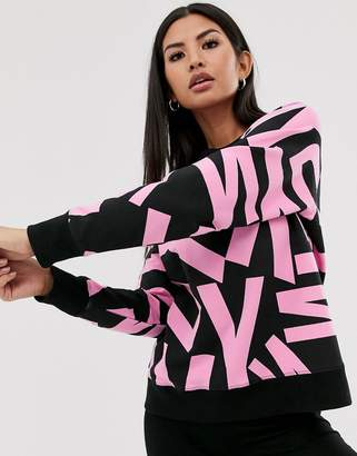 DKNY sweatshirt with all over rubber logo